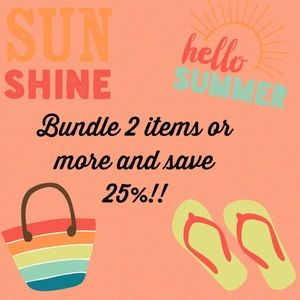 25% off 2 items or more.